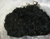 "Black Suri Alpaca Locks, 8"" Natural Black, Unwashed Locks, First Shearing, Doll Hair, 2oz"