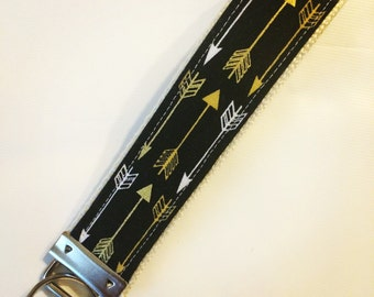 One Key Fob Wristlet - Gilded Arrows