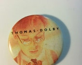 Thomas Dolby button badge pin 80s synth new wave electronic music pioneer