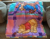 Winnie  the pooh and tiger  reversible blanket