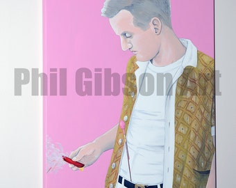 "Original ""Dignan"" Bottle Rocket Wes Anderson Oil and Acrylic Painting"