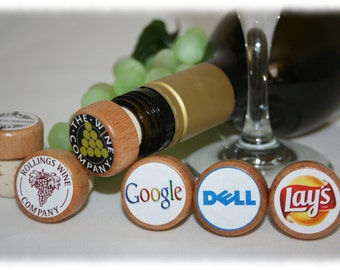 Your Company Logo on a Wine Stoppers, Party Favor Gifts,Company Gifts, Client Wine Stopper, Advertising Your Company, Promotional Gift
