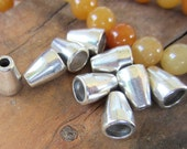 24 Classic cone bead caps antique silver jewelry cord ends metal findings 11mm x 8mm 941Y-U6