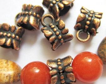 24 Copper pendant hangers jewelry making supplies charm hangers bead hangers copper 11mm x 7mm E0009-(L2)