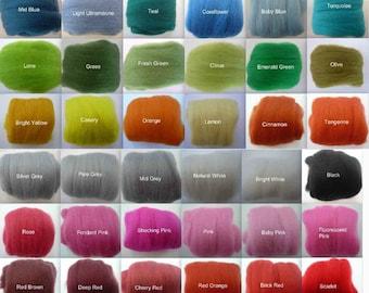 Heidifeathers 150g / 5.2oz Merino Wool Tops - Choose 6 colours.