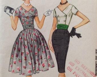 Vintage McCalls' 5671 Dress Full Skirt or Wiggle Skirt