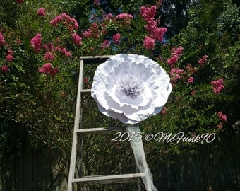 Weddings Large Paper Poppy 22 inches in the Color of Your Choice