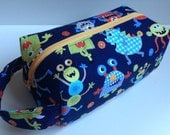 Kid Hygiene Bag / Vacation /Toiletry / Travel Bag - monsters