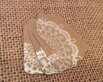 Burlap & Lace Tags Gift Tags Favor Tags Merchandice Tags