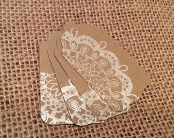 Lace Tags Gift Tags Favor Tags Wedding Tags, Merchandise Tags