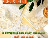 Magic Crochet Filet Virgin Mary Lighthouse Curtains Hexagonal Pineapple Doilies Lace Edgings Craft Pattern Magazine June 1997 Number 108