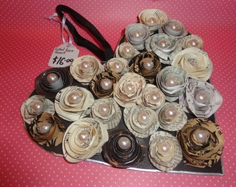 Handmade Rolled Rose Wall Hanging