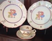 Vintage Children's Dishes From Bavaria