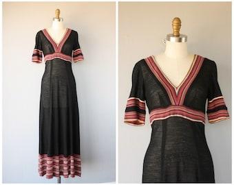 Vintage 1970s Maxi Dress | 70s Maxi Dress | 70s Wool Dress | 1970s Dress | Vintage Wool Dress