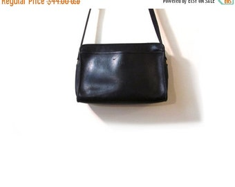 BTS SALE Vintage 90s Distressed Black Leather Coach Grunge Revival Shoulder Purse