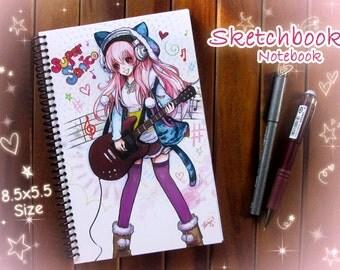 Super Sonico Sketchbook or Notebook Journal