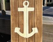 Anchor Vintage Nautical Style Panel Pallet Sign Beach and Coastal Decor