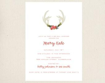 Antler Bridal Shower Invite