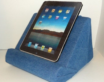 Padded iPad or Book Stand For Your Lap / Soft and Light Weight For All Your Hands Free Reading