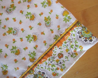 Vintage Flat Bedsheet by JC Penny