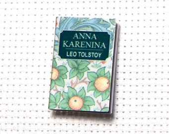 Needle Minder Miniature Book Anna Karenina Leo Tolstoy Romance Love Story 1 Inch