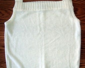 J. TIKTINER Exclusive for I MAGNIN Ladies S white dressy sweater Sleeveless boucle unique  Hand wash dry flat Nice