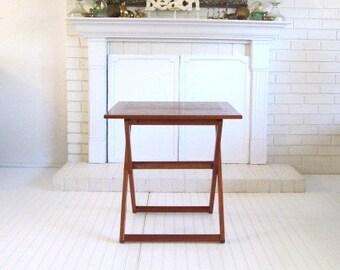 Danish Modern Teak Folding Table, Ansager Mobler,  Bar Table
