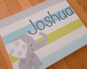 Joshua ele, 11x14 personalized hand painted stretched canvas art