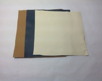 """3 leather remnants sized 8""""x7.5"""""""