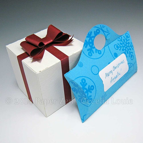 No Peeking Gift Boxes - Paper Gift Box Die Cutting with SVG files and PDF instructions for Silhouette and Cricut machines