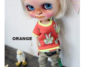 Blythe Rabbit Tshirt -Orange,Yellow