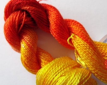 Burning Bright Hand Dyed Tencel Thread Size 8