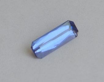 Baguette Cut Color Change Cobalt Bearing Spinel from Sri Lanka