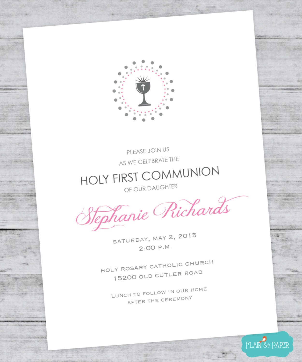 This is a photo of Decisive First Communion Cards Printable