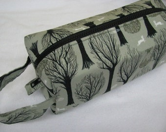 Spooky Forest Dress and Ghost Halloween Pencil Bag Craft Bag Cosmetic Bag Makeup Bag Shaving Kit LARGE