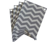 Gray Chevron Laser Cut Flags for Banners and Buntings DIY
