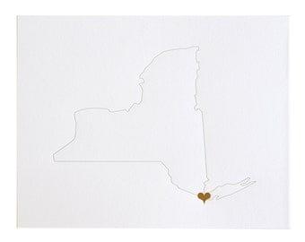 City Love Art Print: New York