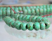 32/0 Czech Aged Jade Picasso Strand/25 Glass Seed Beads Large Picasso Seed Beads 8mm