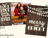 Custom Holiday Card Digital File - Custom Design