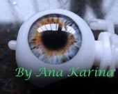 New Soft Resin OOAK REALISTIC custom Blythe eye chips set G4, by Ana Karina. UV laminated