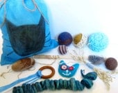 Cat Toys Selection - Gift Bag - More than 10 toys and accessories - Unique Indoor Cat Toys - The Cat Fun Bag