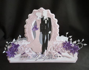 Wedding Bridge Card Cutting File DXF,SVG,Cameo,Cricut,ScanNCut,MTC