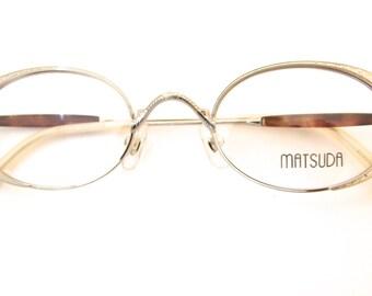 MATSUDA NOS  Designer SUNGLASSES Rare model 10202 Japan/ matt silver
