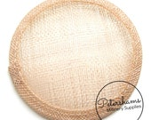 Peachy Pink Round Millinery Sinamay Hat Base for Fascinators & Cocktail Hats