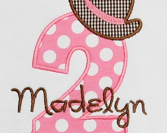 Personalized Birthday Cowgirl Applique Shirt, Bodysuit, Any Age, Any Colors, Shirt, Dress, Tank Top, Short Sleeve, Long Sleeve, 2nd Birthday