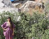 vintage African purple and gold Pyramid kaftan