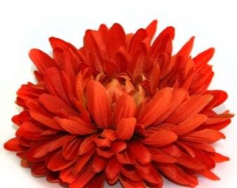 Jumbo Orange Mum - Artificial Flowers, Silk Flower Heads