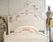 Painted Cottage Shabby Chic French Bed Queen / Full Bed BD732