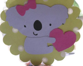 Koala lollipop favors or cupcake toppers