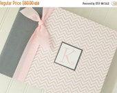 ON SALE NOW Modern Baby Book - Pink Chevron